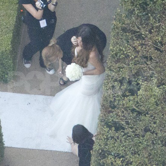 Khloe Kardashian ready to walk down the aisle at Kim's wedding.