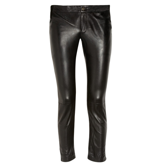 Sara Berman Cropped Leather Pants, $200