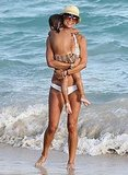 Brooke Burke on vacation with her kids.