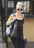 Nicole Richie headed out from a gym session.