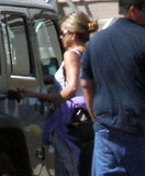 Jennifer Aniston ready to board a private jet in Hawaii.