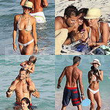 Brooke Burke Wears a White Bikini and Her Wedding Band During a Post-Ceremony Beach Day