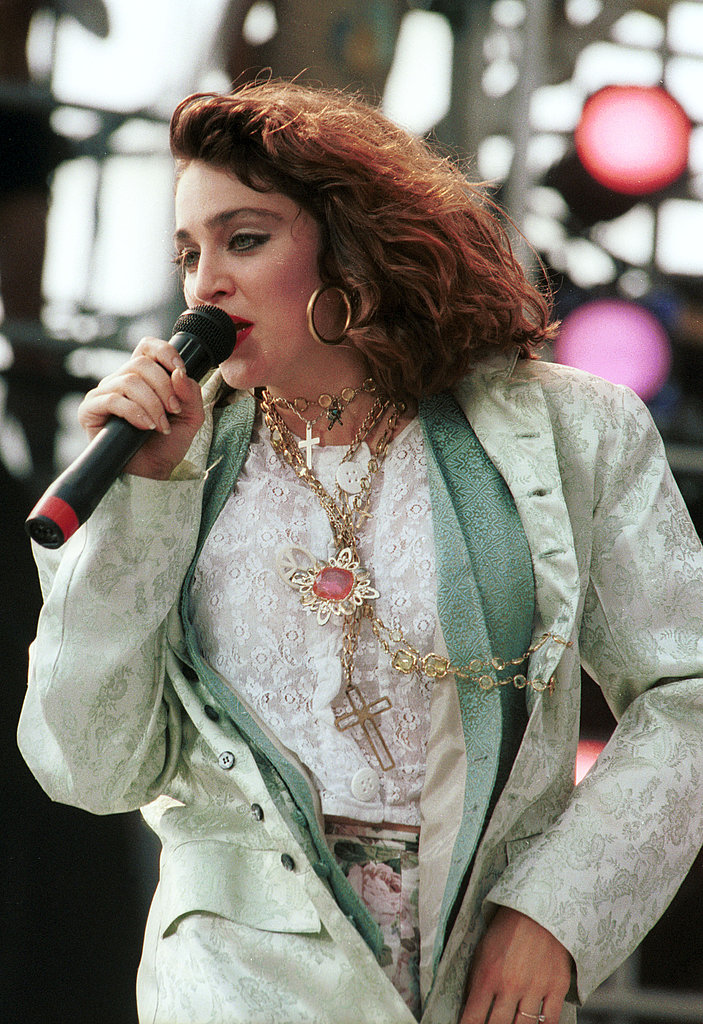 Live Aid performance in 1985. Loving the layers.