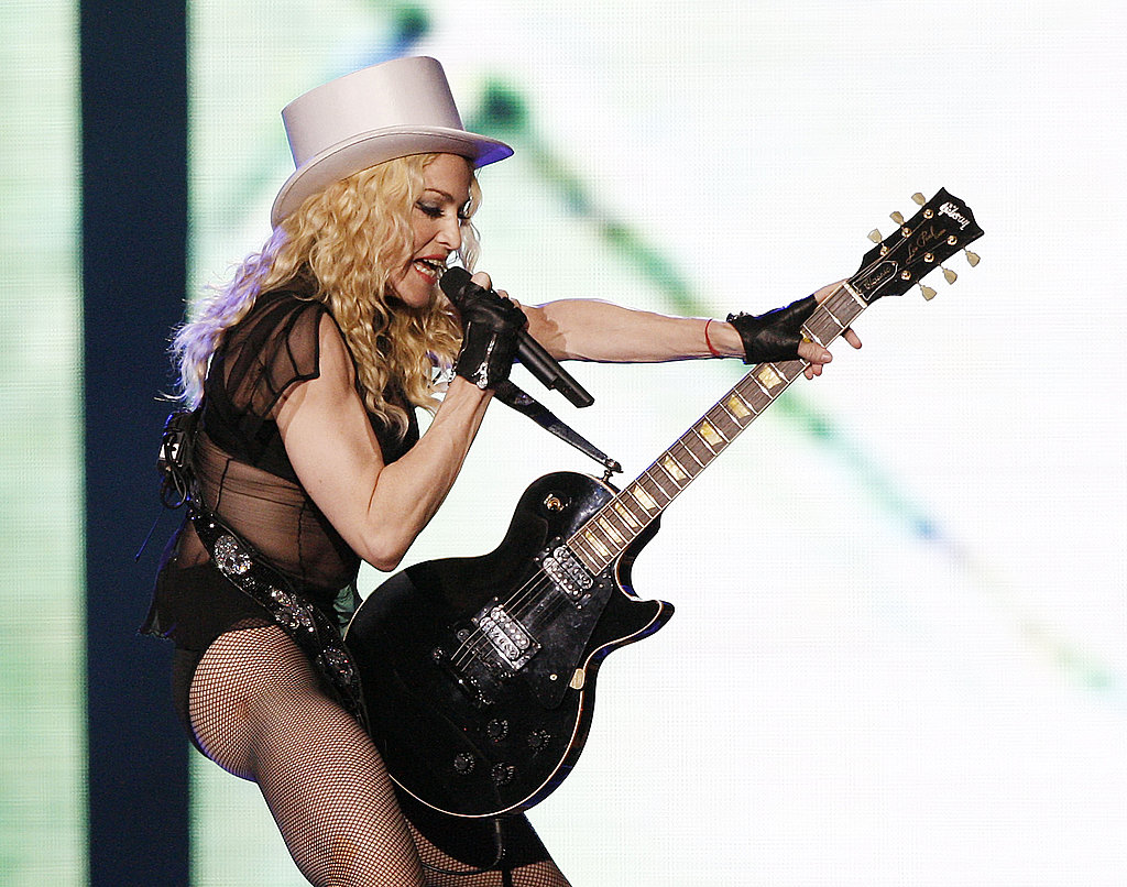 Part cowgirl, part dominatrix performing in 2008.