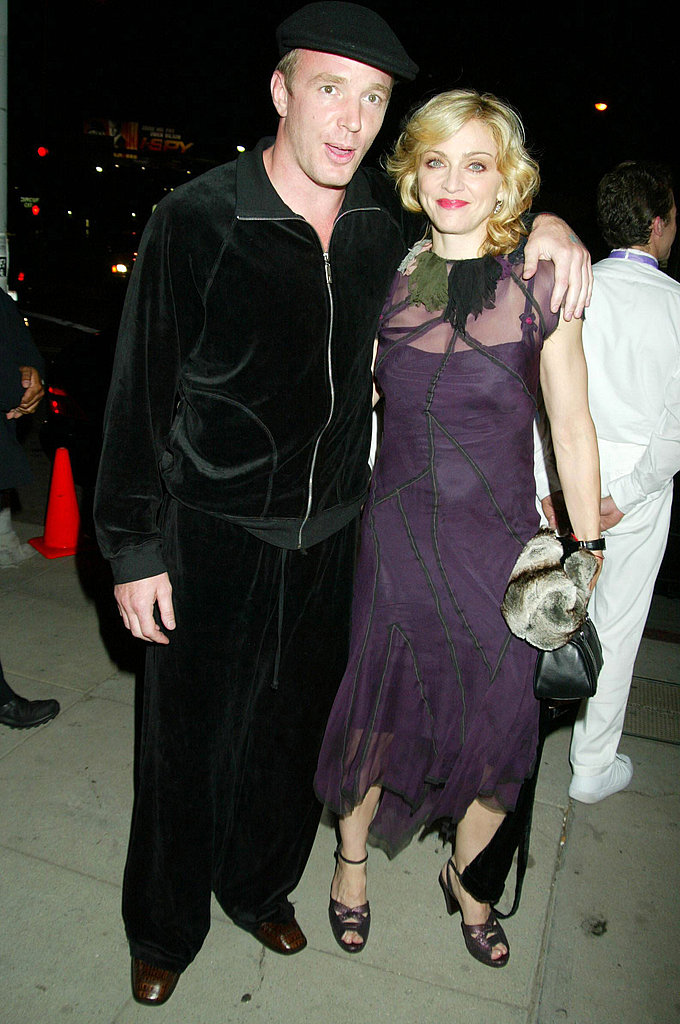 At the Swept Away screening in 2002, with Guy Ritchie in a questionable track suit.