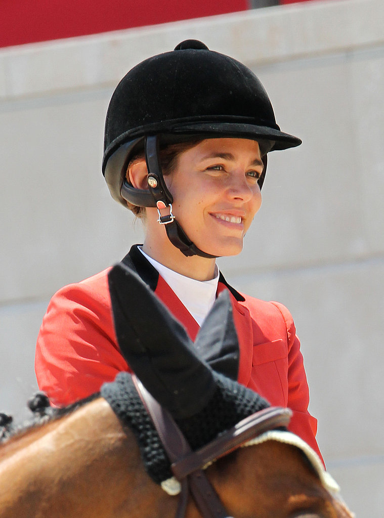 Charlotte, an experienced equestrian, participated in the Global Champion Tour 2011 in Monte Carlo.