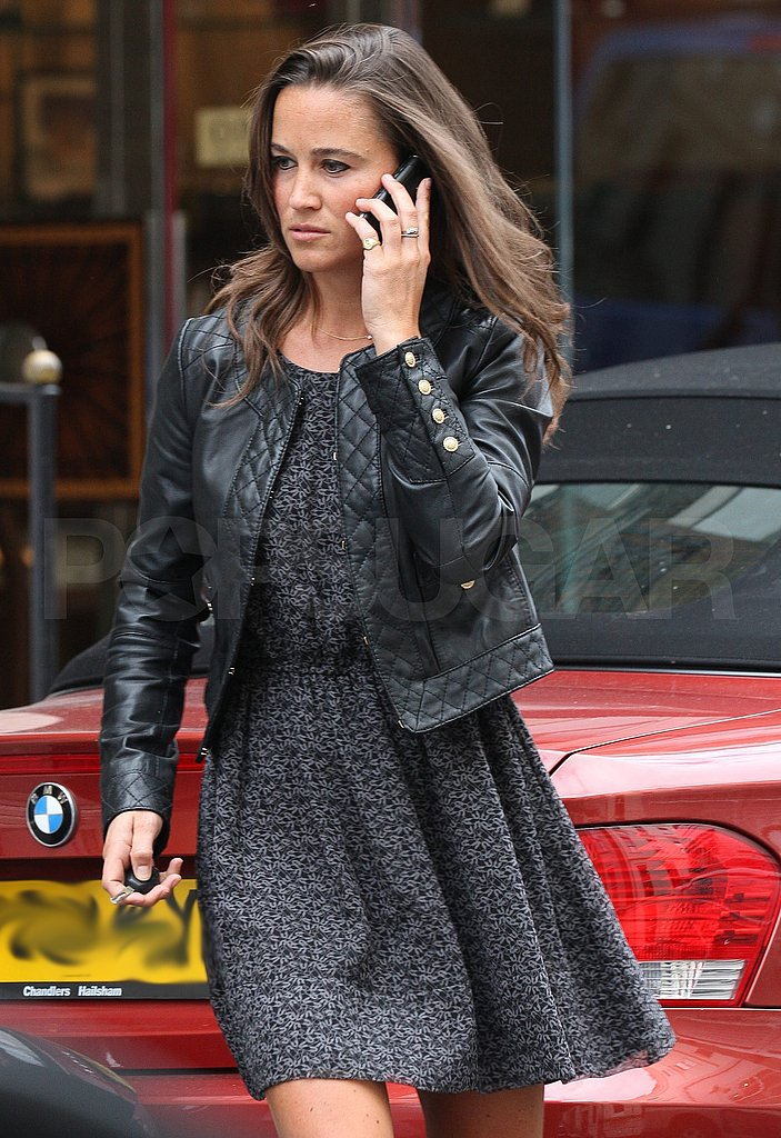 Pippa Middleton leaving work.