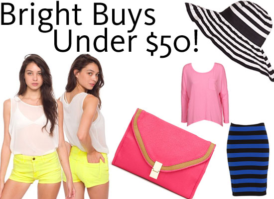 Shopping Steals Under $50: Poptastic Brights!