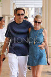 Lara Stone, Husband David Walliams Get a Swim In in Saint Tropez