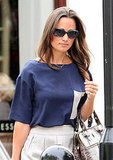 Pippa Middleton starts the morning in London.