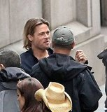 Brad Pitt in Glasgow for World War Z.