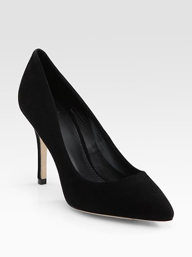 Kolette Black Suede Point-Toe Pumps ($300)