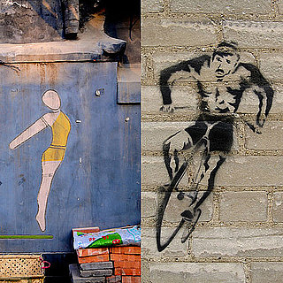 Graffiti and Murals of Running, Cycling, and Swimming