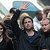 Brad Pitt on World War Z Set in Glasgow, Scotland (Video)