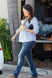 Mom-to-be Lindsay Price stopped for a snack in LA.