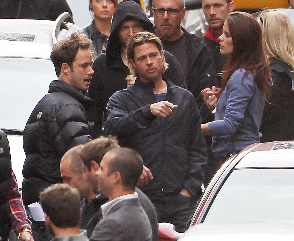 Brad Pitt shoots World War Z.