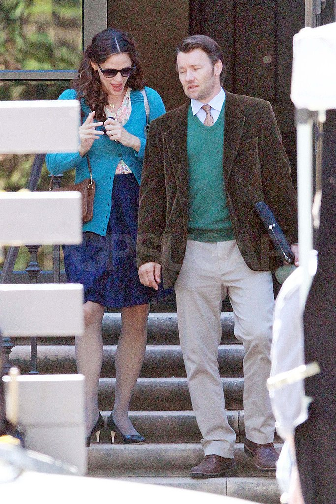 Jennifer Garner with The Odd Life of Timothy Green costar Joel Edgarton.