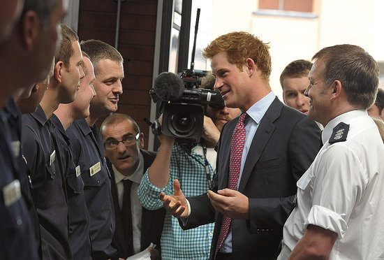 "Prince Harry Tells Riot Responders, ""I Can't Praise Your Bravery High Enough"""