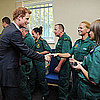 Prince Harry With Firefighters and Ambulance Crew