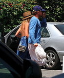 Blake Lively and Leonardo DiCaprio at Umami Burger in LA.