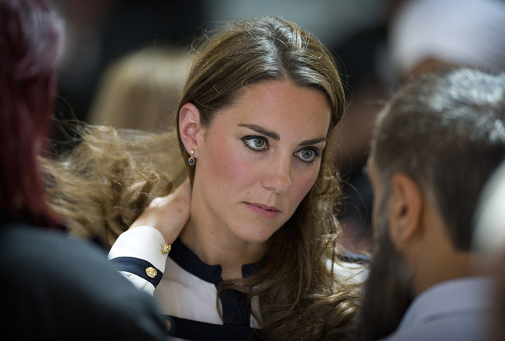 Kate Middleton listens to residents impacted by the riots.