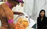Pricasso paints a portrait with his man bits.