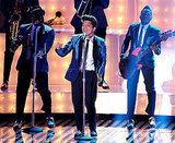 """Bruno Mars performed """"Valerie"""" in a tribute to the late Amy Winehouse."""