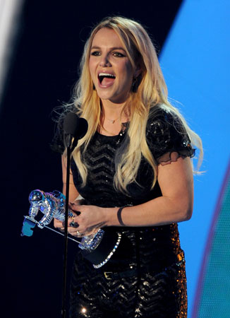 Britney Spears smiled big as she accepted the award for best pop video.