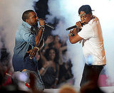 """Kanye West and Jay-Z took to the VMA stage with a performance of """"Otis."""""""