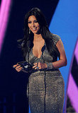 Kim Kardashian presents at the 2011 MTV VMAs.