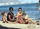 Halle Berry Hits the Beach in Malibu With an Adorable Swimsuit-Clad Nahla