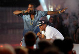 Kanye West and Jay-Z perform at the 2011 MTV VMAs.