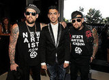 Joel and Benji Madden got together for a photo with Joe Jonas.
