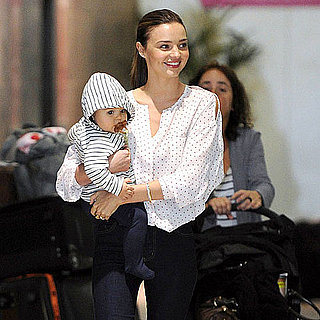 Miranda Kerr and Flynn Bloom Arrive in Melbourne Pictures
