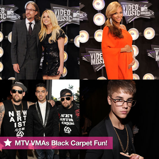 Beyoncé, Justin, Selena, Britney, and More Kick Off the MTV VMAs Fun on the Black Carpet