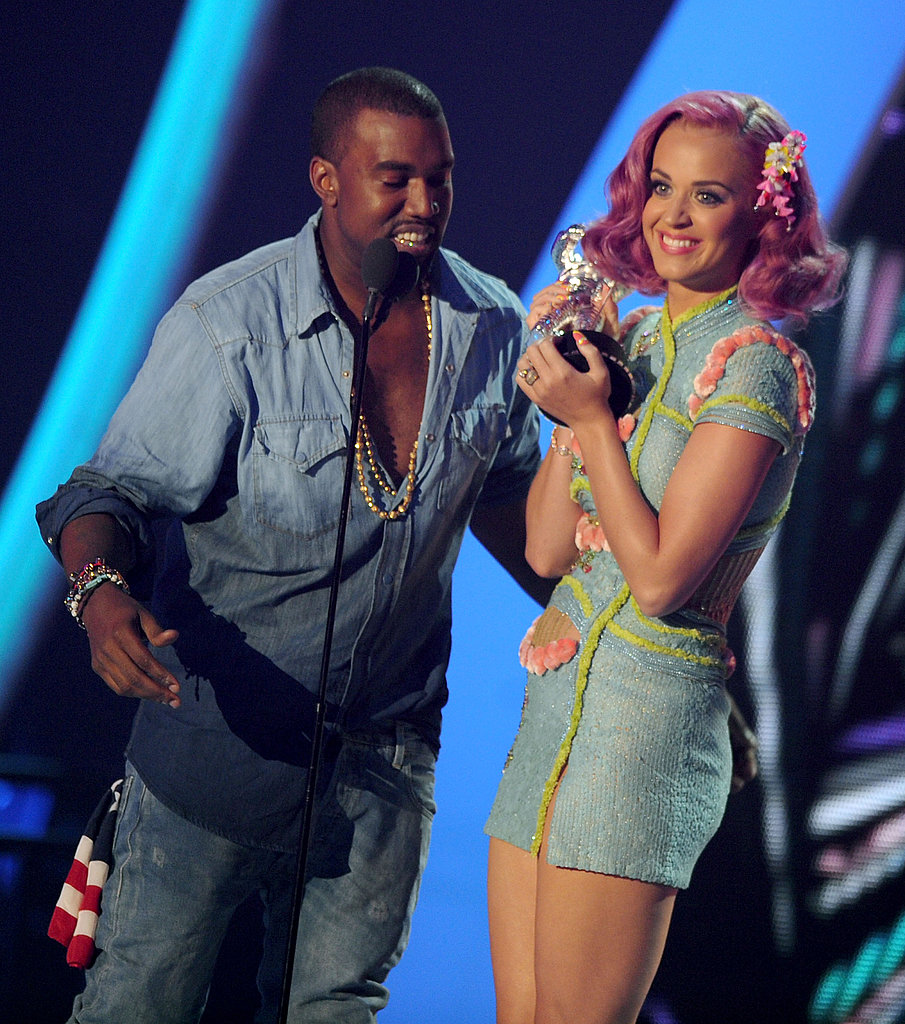 Katy Perry and Kanye West at the 2011 MTV VMAs.