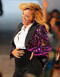 Beyoncé announces her pregnancy at the MTV VMAs.