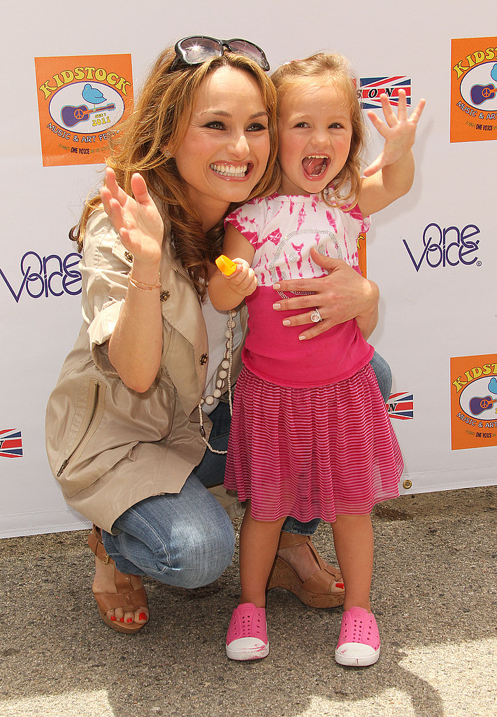 Giada gave birth to her first child, Jade Marie De Laurentiis Thompson, in March 2008. Here she poses with her daughter, who is now three.