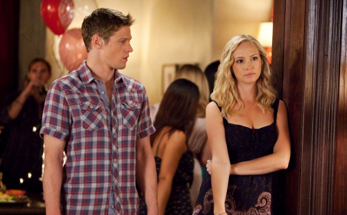 Zach Roerig as Matt and Candice Accola as Caroline on The Vampire Diaries.  Photo courtesy of The CW