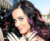 Katy Perry accessorized with Russell Brand on her nails in 2010.