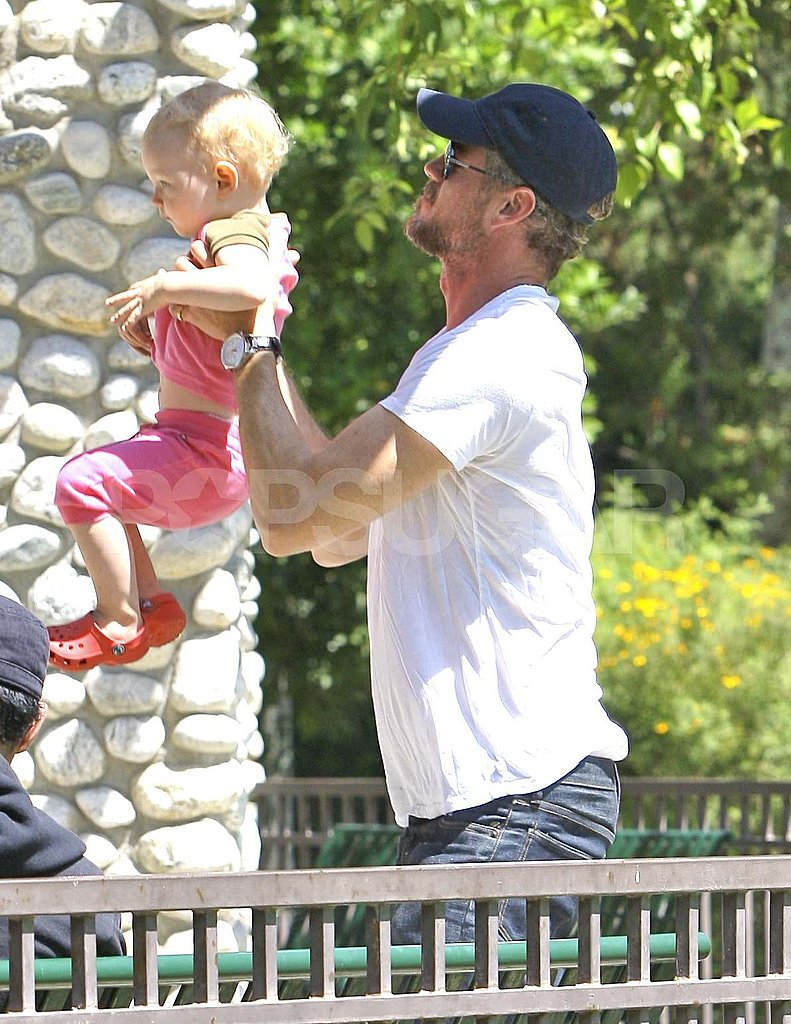Eric Dane Shares a Sandy Father-Daughter Day With Billie