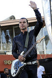 Gavin Rossdale waved to the crowd at LA's Sunset Music Festival.