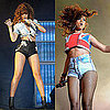 Rihanna Wears Hot Pants During Concert