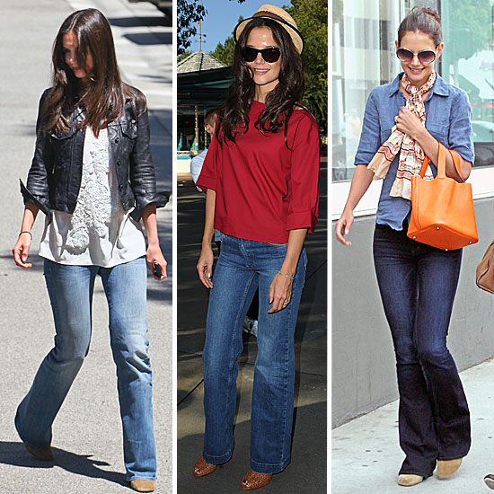 One Piece, Five Ways: Katie Holmes Does Wide-Leg Denim