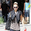 Shop Nicole Richie&#039;s Gym Look With Leather and Phoenix Bag