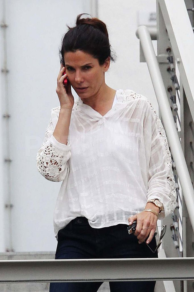 Sandra Bullock Walks and Talks During a Day Out  in LA
