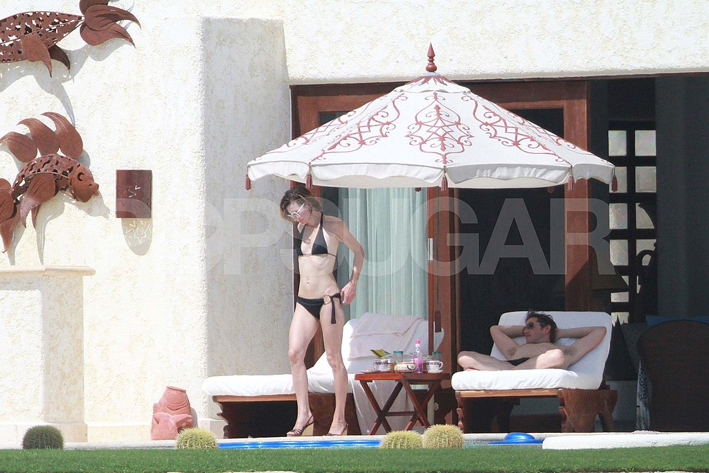 Milla Jovovich and Paul W.S. Anderson on vacation in Mexico.