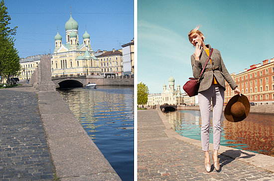 """Canal + cobblestone + traditional onion dome architecture = quintessential Saint Petersburg."""