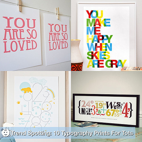 Typography Wall Decor For Nursery