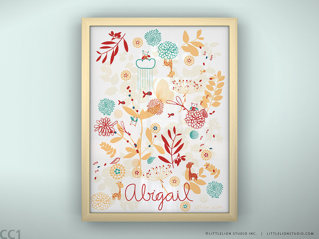 Botanical Garden and Little Friends Personalized Print ($31)